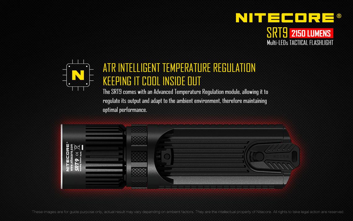 Xhp50 Cree Smartring Tactique Srt9 Nitecore Blanc Lampe Led 80wPOkXn